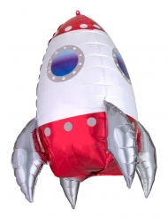 Ballon aluminium fusée spatiale 55 cm