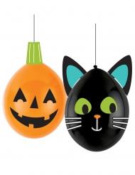 2 Ballons latex DIY Halloween Friends 30 cm