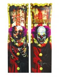 1 Panneau lenticulaire Creepy clown 94 x 30 cm