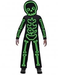 Déguisement squelette phosphorescent enfant