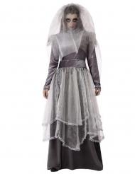 Déguisement mariée funèbre grise femme