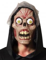 Masque crâne yeux exorbités adulte