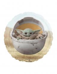 Ballon aluminium bébé Yoda The mandalorian™ 43 cm