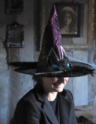 Chapeau de sorcière yeux de chat adulte