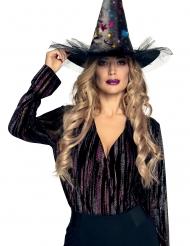 Chapeau sorcière étoilé femme