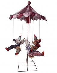 Décoration animée, sonore et lumineuse carrousel 130 x 122 cm