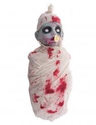 Bébé zombie ensanglantée lumineux et sonore 50 cm
