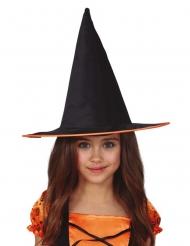 Chapeau sorcière avec liseré orange enfant