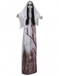 Décoration lumineuse femme fantôme 120 cm