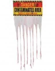 Décoration à suspendre zone contaminée 135 x 90 cm