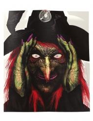 Décoration lumineuse sorcière intrusive 28 x 31 cm