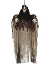 Décoration lumineuse sorcière vaudoo 120 cm