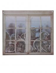 Décoration pour fenêtre zombies 80 x 90 cm