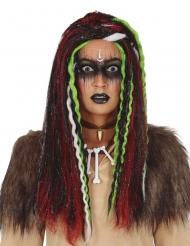 Perruque longue avec mèches vaudoo femme