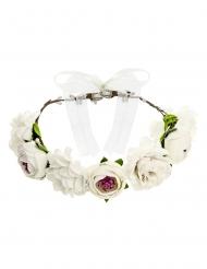 Couronne de fleurs blanches 17 cm