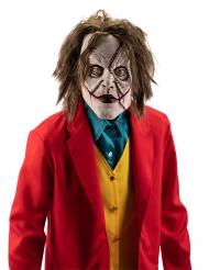masque clown déjanté avec cheveux adulte