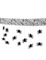 Guirlande araignées pour plafond 3 m