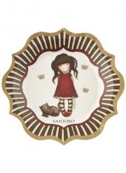 8 Assiettes en carton Ruby Santoro™ 23 cm