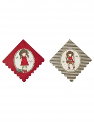 8 Serviettes en papier Ruby Santoro™ 33 x 33 cm