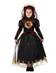 Déguisement mariée noire Dia de los muertos fille