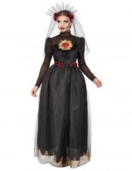 Déguisement mariée noire Dia de los muertos femme