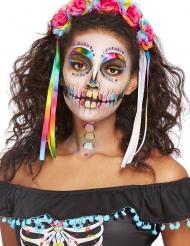 Kit maquillage squelette multicolore femme