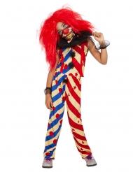 Déguisement creepy clown bicolore fille