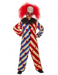 Déguisement creepy clown bicolore garçon