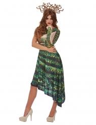 Déguisement méduse verte femme