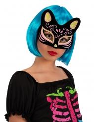 Masque chat coloré adulte