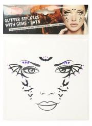 Stickers pour visage chauve-souris femme