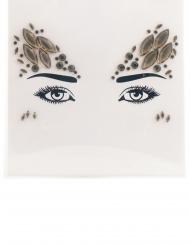 Stickers pour visage ange pastel femme