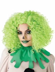 Perruque clown verte adulte