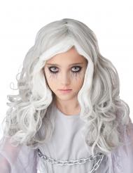 Perruque longue grise phosphorescente enfant