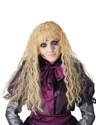 Perruque longue ondulée blonde enfant