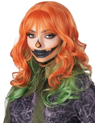 Perruque rousse et verte femme