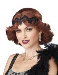 Perruque années 20 rousse femme