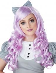 Perruque longue cosplay violette adulte