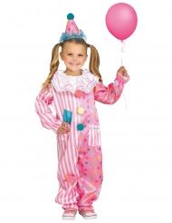 Déguisement clown rose bonbon enfant