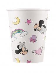 8 Gobelets en carton compostable Minnie et la licorne™ 200 ml