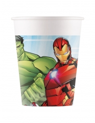 8 Gobelets en carton Avengers Mighty™ 200 ml