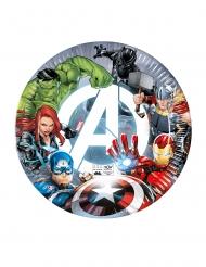 8 Assiettes en carton compostable Avengers™ 23 cm