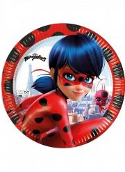 8 Assiettes en carton compostable Miraculous Ladybug™ 23 cm