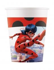 8 Gobelets en carton compostable Miraculous Ladybug™ 200 ml
