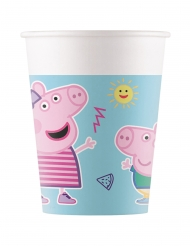 8 Gobelets en carton compostable Peppa Pig™ 200 ml