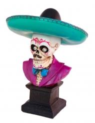 Décoration buste squelette mexicain 29 cm