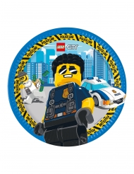 8 Assiettes en carton FSC® Lego City™ 23 cm