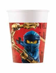8 Gobelets en carton FSC® Lego Ninjago™ 200 ml
