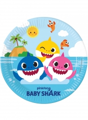 8 Assiettes en carton FSC® Baby Shark™ 23 cm
