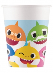 8 Gobelets en carton FSC® Baby Shark™ 200 ml